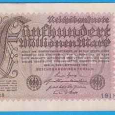BANCNOTA GERMANIA - 500 MILLIONEN MARK -1 SEPTEMBRIE 1923 - UNIFATA - STARE BUNA