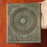 Calendar din zinc - model deosebit cu marcaj !!!!!