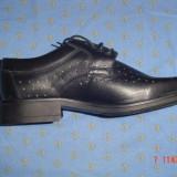 Pantofi piele naturală marca AGDESY - Pantofi barbat, Marime: 43, 44, Culoare: Negru