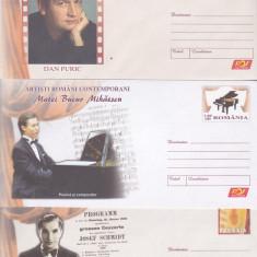 Bnk fil Lot 3 intreguri postale - artisti romani