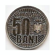 Romania 50 bani 2015 (10 ani de la denominarea monedei naționale) KM-New UNC !!! - Moneda Romania