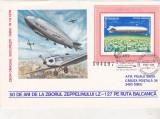 Bnk fil Aerofilatelie - plic ocazional - 50 ani de la zborul zeppelinului LZ-127