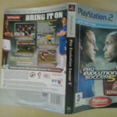 Coperta - Pro Evolution Soccer 5 PLATINUM - Playstation PS2 ( GameLand ), Alte accesorii