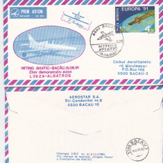 bnk fil Aerofilatelie - plic ocazional - miting aviatic Brasov - L39 ZA Albatros