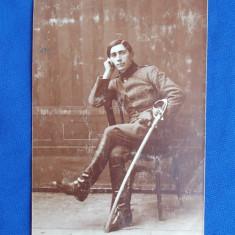 FOTOGRAFIE VECHE LOCOTENENT - 1917