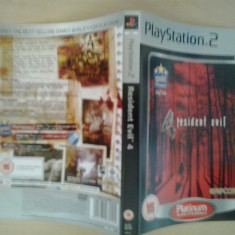 Coperta - Resident Evil 4 PLATINUM - Playstation PS2 ( GameLand ), Alte accesorii