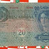 Bancnota 20 korona 1913-TIMBRU SPECIAL ROMANIA-seria-2342 - Bancnota romaneasca