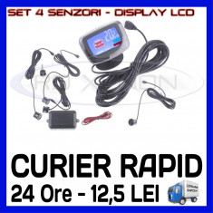 SISTEM SET 4 SENZORI DE ASISTENTA LA PARCARE - DISPLAY LCD SI AVERTIZARE SONORA - Senzor de Parcare ZDM