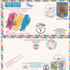Bnk fil Aerofilatelie - plic ocazional -Raid aerian comemorativ Bacau Blaj Bacau