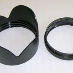 Parasolar tip petala prindere baioneta diametrul interior 83mm si adaptor cu diametrul interior 76mm