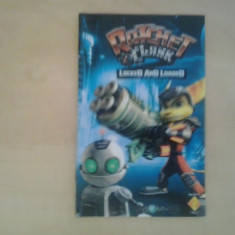 Manual - Ratchet and Clank - Loked and loaded - Playstation PS2 ( GameLand )