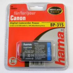 Acumulator Hama Canon BP-315 Li-Ion 7.4V 11.1Wh 1500mA - Baterie Aparat foto