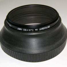 Parasolar guma + filtru skylight LA+10 67mm - Parasolar Obiectiv Foto