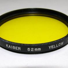 Filtru galben Kaiser 52mm - Filtru foto