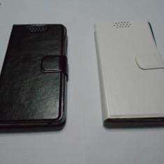 HUSA LENOVO S660 FLIP inchidre magnetica- alb negru bumper siliconic inclus - Husa Telefon Corsair, Piele, Cu clapeta