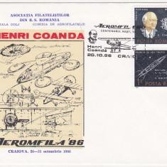 Bnk fil Aerofilatelie - Aeromfila 86 Craiova - plicuri ocazionale