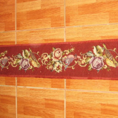 Covoras vechi Carpeta Rustica cusuta manual Trandafiri si Pasarele.