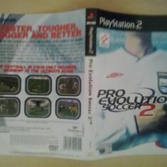 Coperta - Pro Evolution Soccer 2 - Playstation PS2 ( GameLand ), Alte accesorii