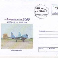 Bnk fil Aerofilatelie - Aeromfila 2000 Bacau - MIG 29 Sniper