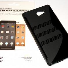 Husa Protectie Silicon Gel TPU Sony Xperia M2 + Folie de Protectie CADOU!!! - Husa Telefon Sony, Negru