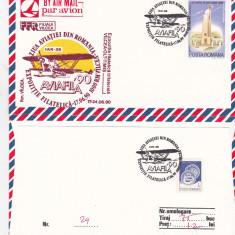 Bnk fil Aerofilatelie - plic ocazional - Aviafila 90