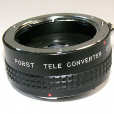 Porst Tele Converter 2x Auto Pentax K SLR DSLR - Adaptor aparat foto