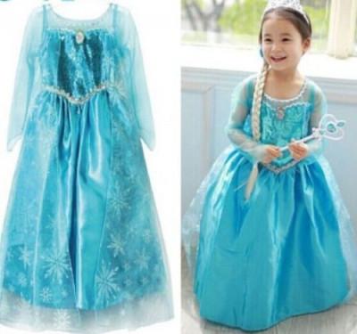 Rochita printesa Elsa rochie petrecere Frozen, 3-4, 4-5 ani foto