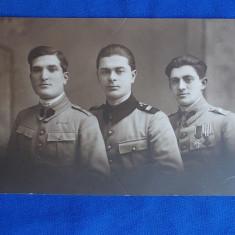 FOTOGRAFIE VECHE  GRUP MILITARI * FOTO IDEAL ST.OLTEANU - CAMPINA - 1921