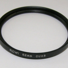 Filtru marime Rowi +3 52mm - Filtru foto