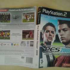 Coperta - Pro Evolution Soccer 2008 - Playstation PS2 ( GameLand ), Alte accesorii