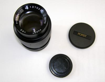 Obiectiv Porst 135mm 1:3.5 montura M42 foto