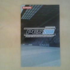 Manual - Pro Evolution Soccer 2008 - Playstation PS2 ( GameLand ), Alte accesorii