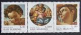 SAN MARINO 1975 - PICTURA CRACIUN  3 VALORI, NEOBLITERATE - SM 026