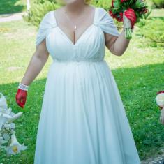 Rochie de Mireasa Scurta- MARIME MARE (reglabila 48-54) - Rochie scurta de mireasa