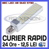 BEC LED APLICA E14, E27 - 48 SMD 5730 - ECH 90W, 890 LUMENI - ALB CALD, ALB RECE, Becuri LED, Rece (4100 - 4999 K), ZDM