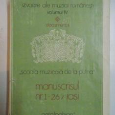 MANUSCRISUL NR.1-26/ IASI ANTOLOGHION, DOCUMENTA 1981, VOL IV - Muzica Dance