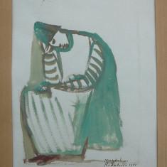 Acuarela semnata Magdalena Radulescu - Pictor strain, Portrete, Abstract