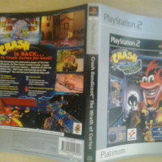 Coperta - Crash Bandicoot - The wrath of cortex PLATINUM - PS2 ( GameLand )