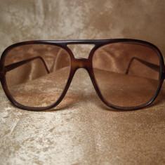 Indo Spain Aviator, ochelari de soare vintage, model Seneca, Unisex, Maro, Pilot, Plastic