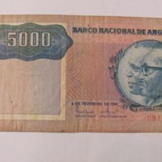 CY - 5000 kwanzas 1991 Angola - bancnota africa