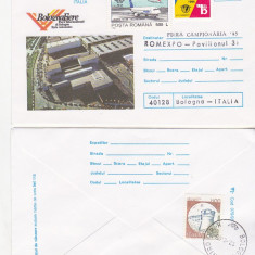 Bnk fil Aerofilatelie - Zbor spcial TAROM Bucuresti Bologna BolognaFiere 95