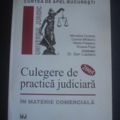 DAN LUPASCU - CULEGERE DE PRACTICA JUDICIARA IN MATERIE COMERCIALA 2005, Alta editura