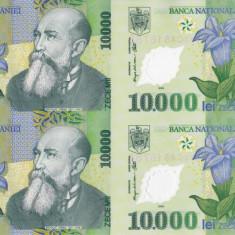 ROMANIA 4 X 10.000 lei 2000 COALA NETĂIATĂ + certificat UNC!!! - Bancnota romaneasca
