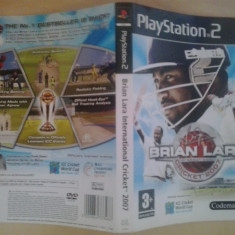 Coperta - Brian Lara - Cricket 2007 - Play Station PS2 ( GameLand )