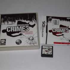 Joc consola Nintendo DS - Unsolved Crimes - complet carcasa si manual - Jocuri Nintendo DS, Actiune, Toate varstele, Single player