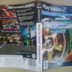 Coperta - Need for speed Underground 2 - NFS  - Playstation PS2 ( GameLand )
