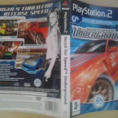 Coperta - Need for speed Underground - NFS  - Playstation PS2 ( GameLand )