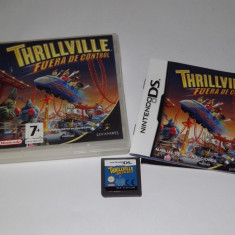 Joc consola Nintendo DS - Thrillville off the Rails - complet carcasa si manual - Jocuri Nintendo DS Altele, Actiune, Toate varstele, Single player