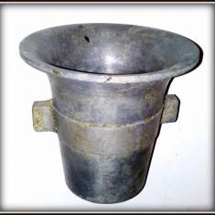 Mojar / piua din aluminiu masiv, fara pistil, decor rustic - Metal/Fonta