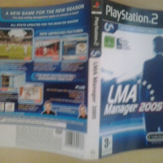 Coperta - LMA Manager 2005 - Playstation PS2 ( GameLand )